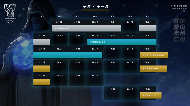 2018英雄联盟S8全球总决赛赛程 韩国举办城市及日期公告